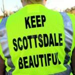 """Keep Scottsdale Beautiful"" back of safety vest"
