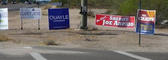 Sneak Peeks: Signs Invading Scottsdale's Scenic Drive?